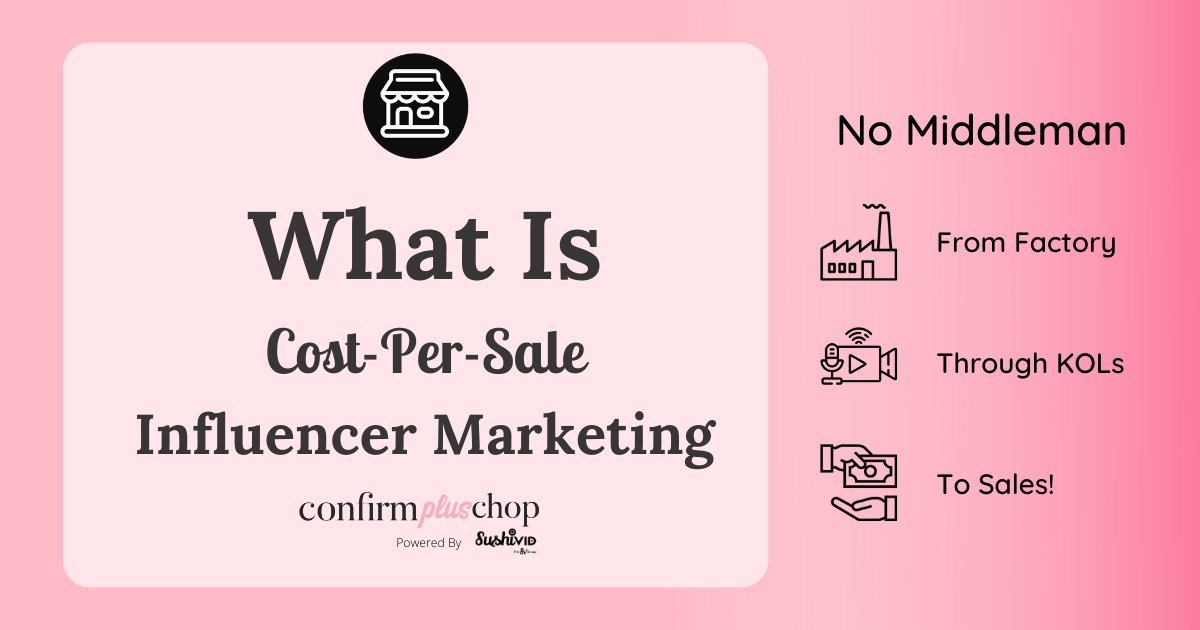What is cost per sale influencer marketing