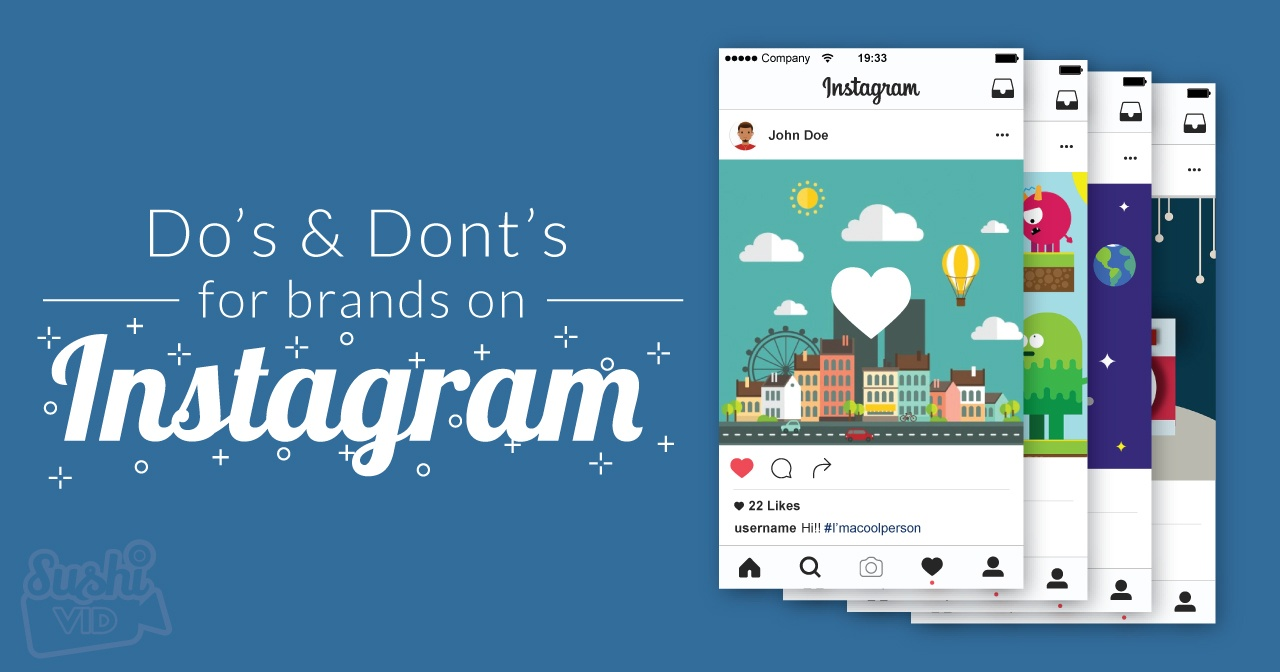 Do's & Don'ts for brands on Instagram
